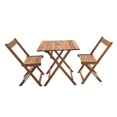 Set tavolo e sedie in acacia NATERIAL Porto per 2 persone
