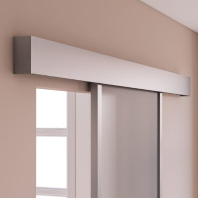 Binario per porta scorrevole Atelier grigio L 1.86 m