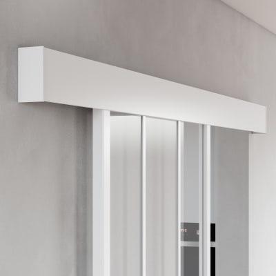 Binario per porta scorrevole Atelier Bianco L 1.86 m