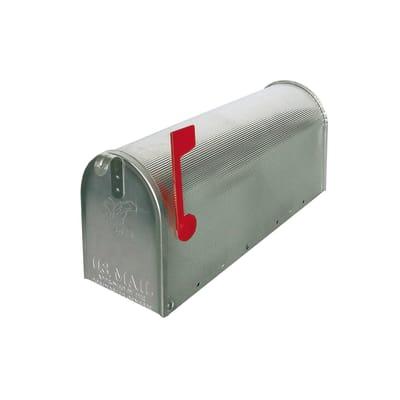Cassetta postale ALUBOX formato Rivista, argento, L 17 x P 48 x H 22.2 cm