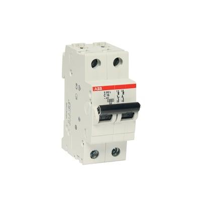 Interruttore magnetotermico ABB ELS202L-C16 2P 16A 4.5kA C 2 moduli 230V
