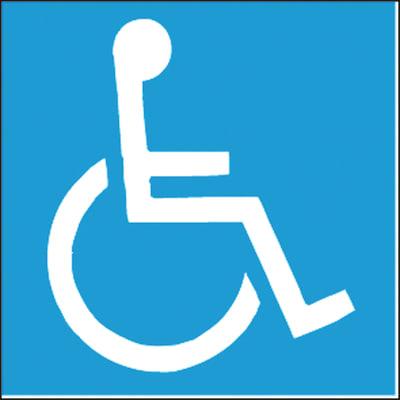 Sticker Handicap plastica 17 x 17 cm