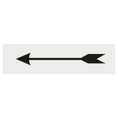 Cartello segnaletico Freccia plexiglass 15 x 4 cm