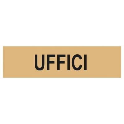 Cartello segnaletico Uffici plexiglass 15 x 4 cm