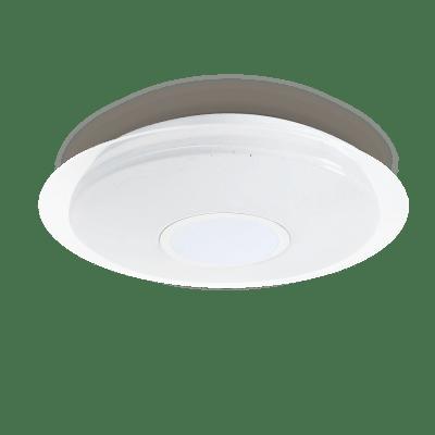 Plafoniera moderno Vizzini LED integrato bianco D. 56 cm 56x56 cm, INSPIRE