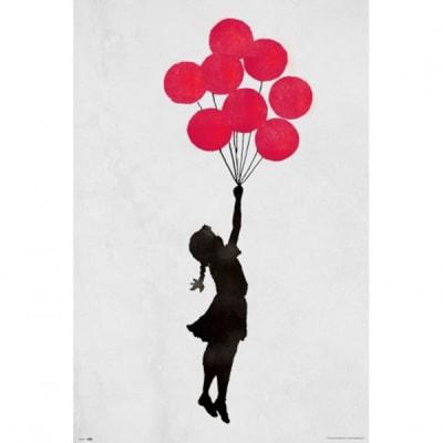 Poster Brandalised Girl Floating 61x91.5 cm