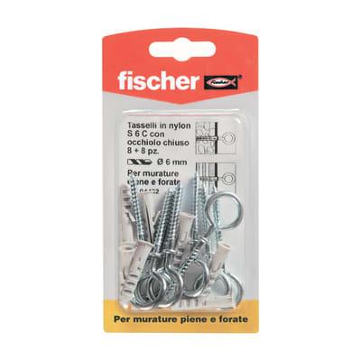 Tassello per materiale forato FISCHER S L 29 mm x Ø 6 mm 8 pezzi
