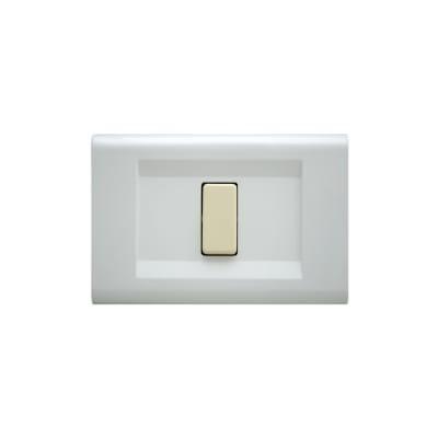 Placca FEB Laser 1 modulo bianco compatibile con magic