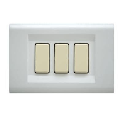 Placca FEB Laser 3 moduli bianco compatibile con magic