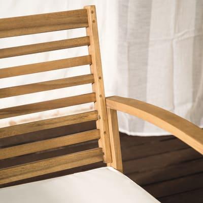 Set per balcone in acacia NATERIAL Porto per 4 persone