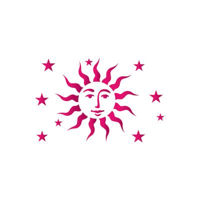 Stencil tema motivo geometrico LES DECORATIVES Sole 30.0 x 0.1 cm