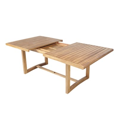 Tavolo da giardino allungabile  rettangolare Viena NATERIAL con piano in legno L 180 x P 110 cm