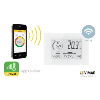 Cronotermostato VIMAR Touch screen WiFi 02907 bianco
