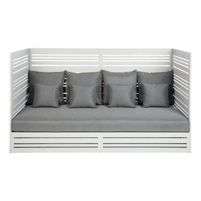 Divano Arizona in alluminio colore grigio