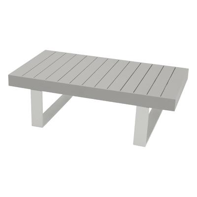 Tavolino da giardino rettangolare Las Vegas in alluminio L 73.5 x P 132 cm