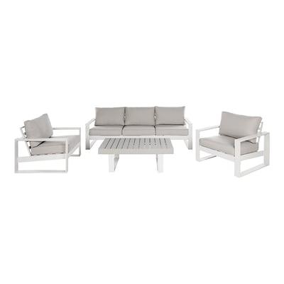 Poltrona Las Vegas in alluminio colore bianco