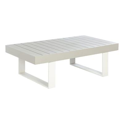 Tavolino da giardino rettangolare Las Vegas in alluminio L 73.5 x P 132.5 cm