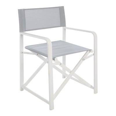 Sedia Regista Alluminio Offerte.Sedia Pieghevole In Alluminio City Colore Grigio Prezzi E Offerte