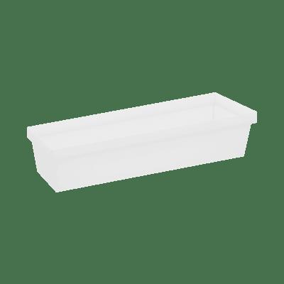 Scatola da cucina gancio trasparente e bianco P 6.7 cm x L 100 x H 300 mm