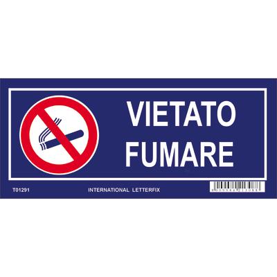 Cartello segnaletico Vietato fumare pvc 23 x 10 cm