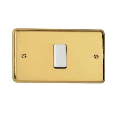 Placca CAL Magic 1 modulo ottone ottone compatibile con magic