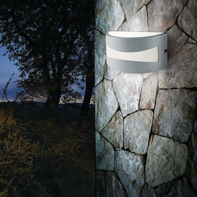 Applique Tibet LED integrato in alluminio, bianco, 10W 700LM IP54