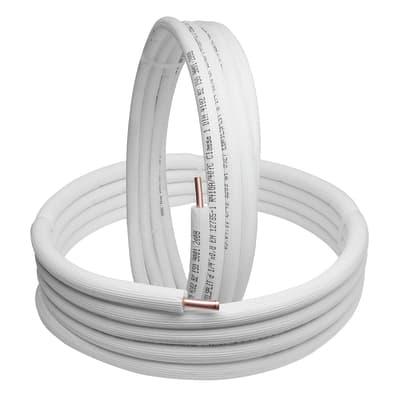 Tubo di rame isolato di rame in kit  1/4 +3/8 sp.1 mm 5 m
