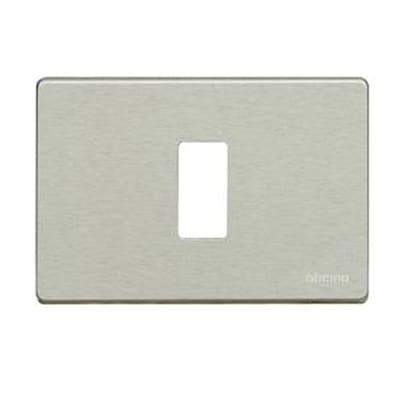 Placca BTICINO Magic 1 modulo alluminio