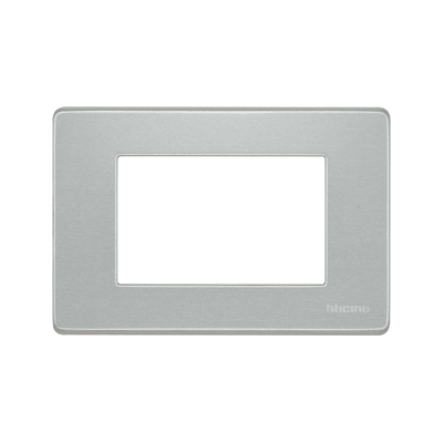 Placca BTICINO Magic 3 moduli alluminio