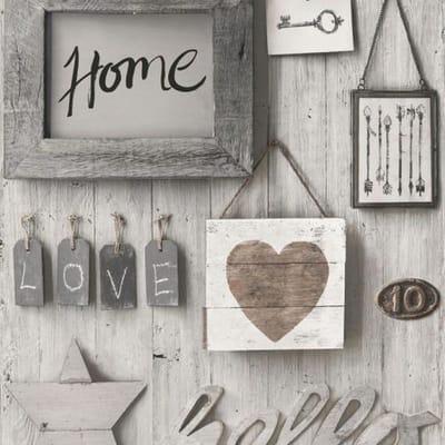 Carta da parati Sweet Home grigio