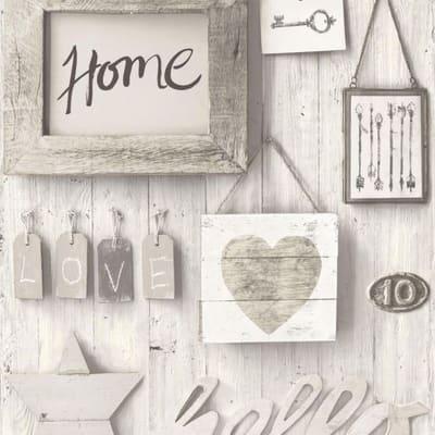 Carta da parati Home Sweet Home beige