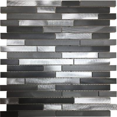Mosaico Urban Barrette H 30 x L 30 cm grigio