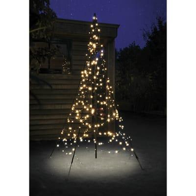 Albero luminoso 300 lampadine bianco caldo H 200 cm