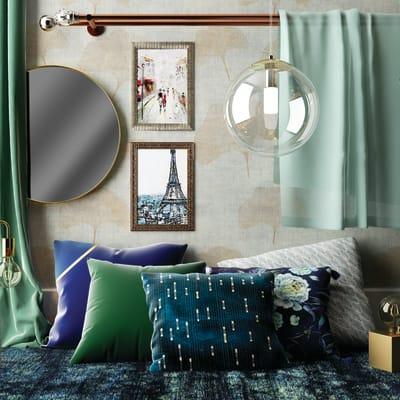 Cuscino Fuse blu 40x40 cm