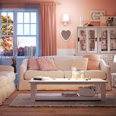Cuscino Lydie rosa 45x45 cm