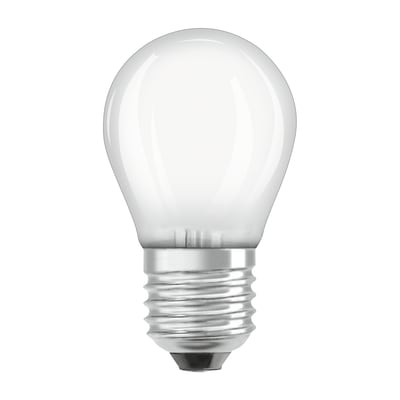 Lampadina LED E27 sferico bianco caldo 6W = 806LM (equiv 60W) 300° OSRAM