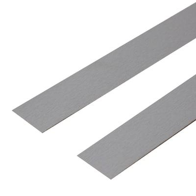 Bordo preincollato grigio 650 x 3.5 cm
