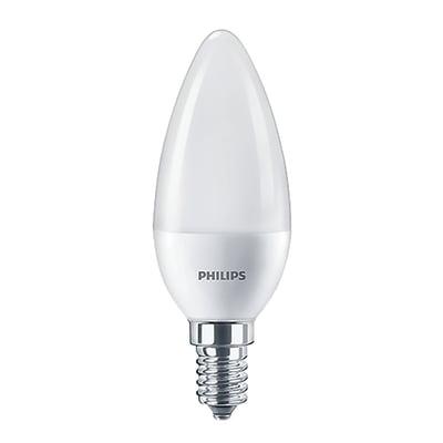 Set di 2  lampadine LED, E14, Oliva, Opaco, Luce calda, 7W=806LM (equiv 60 W), 220° , PHILIPS