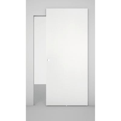 Porta scorrevole con binario esterno Space in legno laccato Binario nascosto L 101 x H 230 cm sx