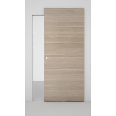 Porta scorrevole con binario esterno Space in legno Binario nascosto L 101 x H 230 cm dx