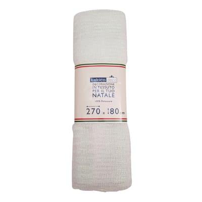 Tessuto natalizio Tessuto decorativo a rete 270 x 80 trasparente