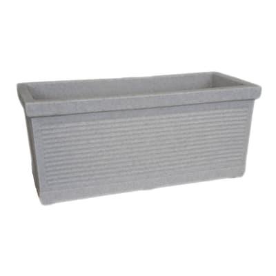Fioriera Millerighe in plastica colore grigio H 35 cm, L 80 x P 35 cm