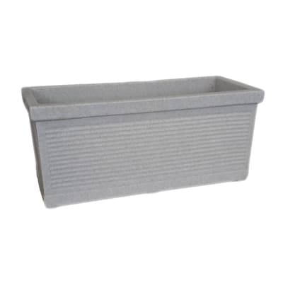 Fioriera Millerighe in plastica colore grigio H 27 cm, L 60 x P 28 cm