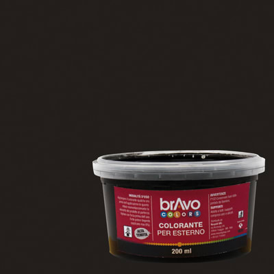Colorante liquido universale per esterni 200 ml nero ossido