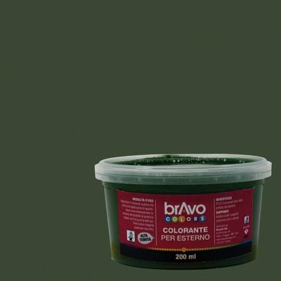 Colorante liquido universale per esterni 200 ml verde ossido