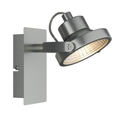 Faretto a muro farra cromo in alluminio led integrato 3 for Profilo alluminio led leroy merlin