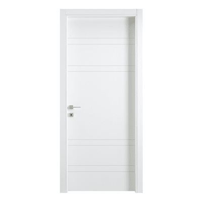 Porta a battente One White Incisa bianco L 70 x H 210 cm reversibile