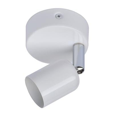Faretto a muro Basic new bianco, in ferro, GU10 50W IP20