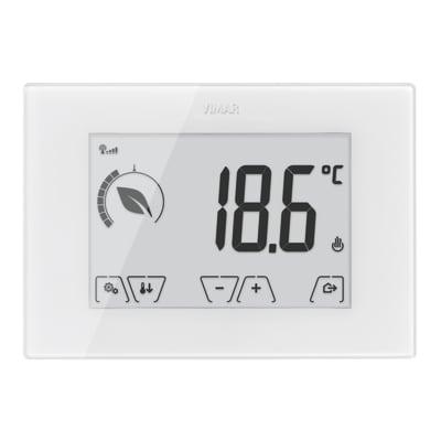 Cronotermostato vimar touch screen gsm 02906 bianco prezzi for Termostato gsm leroy merlin