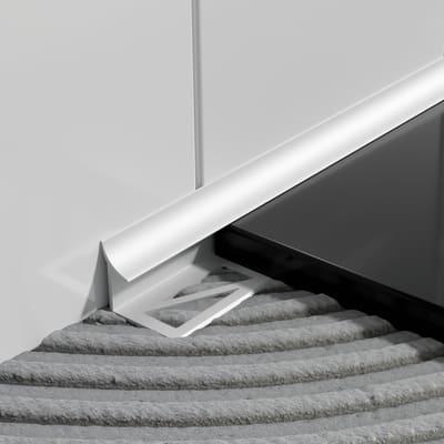 Profilo angolare esterno alluminio anodizzato 1 x 250 cm